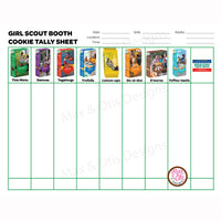 Girl Scout Cookie Booth Tally Sheet - Max & Otis Designs