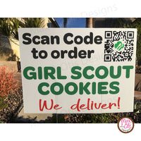 Girl Scout Cookie QR Code - Yard Sign Digital File