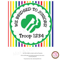Girl Scout Printable Junior Bridging Banner - Editable PDF
