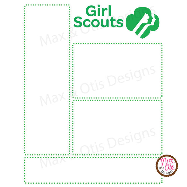 It's just a photo of Hilaire Girl Scout Templates Free