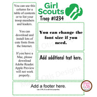 Girl Scout Printable Newsletter Template - Max & Otis Designs