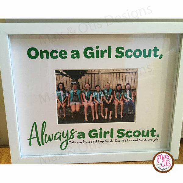Girl Scout Printable Photo Mat - Max & Otis Designs