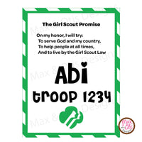 Girl Scout Printable Promise Name Badge - Max & Otis Designs