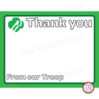 Girl Scout Thank You Card Printable (editable PDF) - Max & Otis Designs