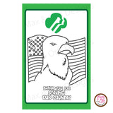 Girl Scout Thank You Veterans Printable Coloring Sheet - Max & Otis Designs