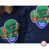 Girl Scout Printable Iron-On Transfer - Golden Gate Bridging (Editable PDF) - Max & Otis Designs