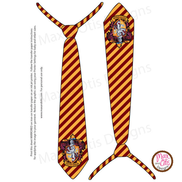 image relating to Printable Iron on Paper identify Printable Iron-Upon Go - Harry Potter Gryffindor Tie