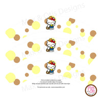 Printable Cupcake Wrappers - Hello Kitty Cowboy - Max & Otis Designs