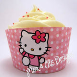 Printable Cupcake Wrappers - Hello Kitty