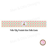 Printable Water Bottle Wrappers - Hello Kitty Hula - Max & Otis Designs