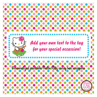 Printable Candy Bar Wrappers - Hello Kitty Hula Luau - Max & Otis Designs