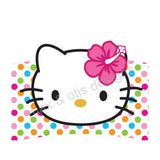 Printable Cupcake Wrappers - Hello Kitty Hula Face (Assorted Colors) - Max & Otis Designs