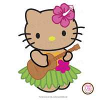 Hello Kitty Hula/Luau Printable Sign Banner - Max & Otis Designs