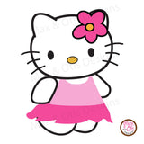 Hello Kitty (Skirt) Printable Sign Banner - Max & Otis Designs