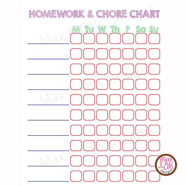 picture about Printable Homework Chart named Printable Research Chore Chart (Editable PDF)