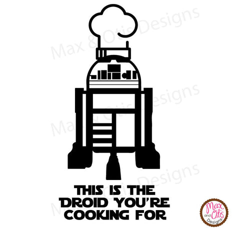 Instant pot pressure cooker decal this is the droid youre cooking for
