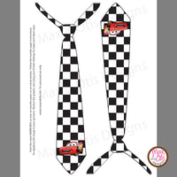 Printable Iron-On Transfer - Pixar Cars Tie - Max & Otis Designs