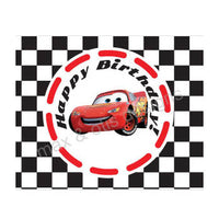 Printable Water Bottle Wrappers - Cars Lightning McQueen (Editable PDF) - Max & Otis Designs