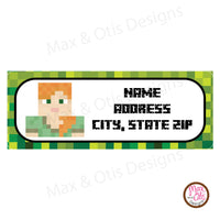 Printable Address Labels - Minecraft Alex - Max & Otis Designs