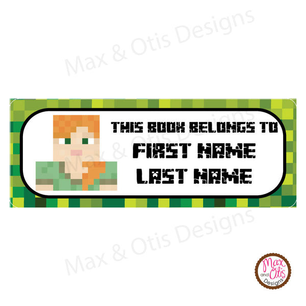 picture relating to Minecraft Labels Printable named Printable Deal with Labels - Minecraft Alex