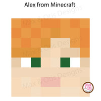 Minecraft Alex Printable Box Head - Max & Otis Designs