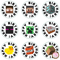 Printable Hershey Kiss Stickers - Minecraft - Max & Otis Designs