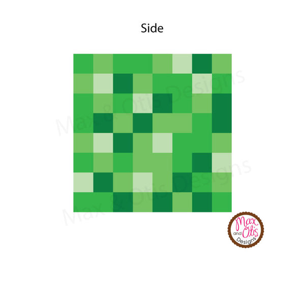 This is a picture of Monster Minecraft Creeper Face Printable