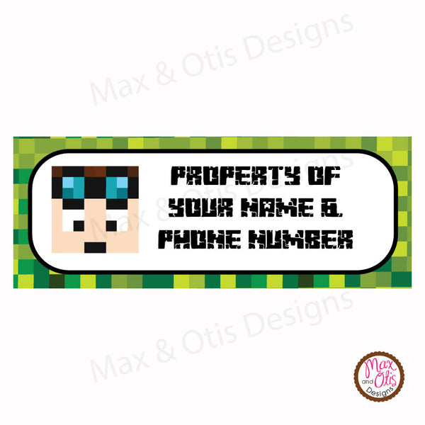 Printable Address Labels - Minecraft Dan TDM - Max & Otis Designs