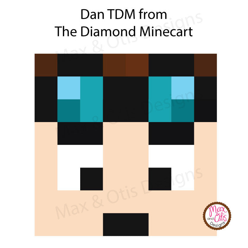 Minecraft Dan TDM Printable Box Head - Max & Otis Designs