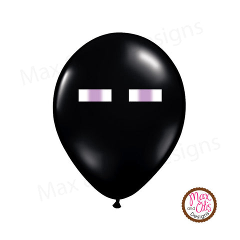 Minecraft Enderman Eyes Balloon Stickers - Max & Otis Designs