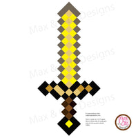 Minecraft Gold Sword Printable - Max & Otis Designs