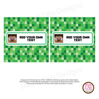 Printable Candy Bar Wrappers - Minecraft Steve - Max & Otis Designs