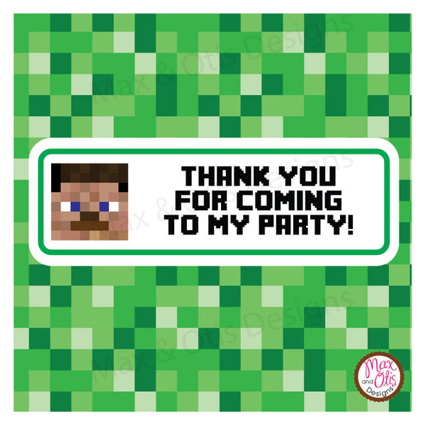 Printable Candy Bar Wrappers Minecraft Steve Max