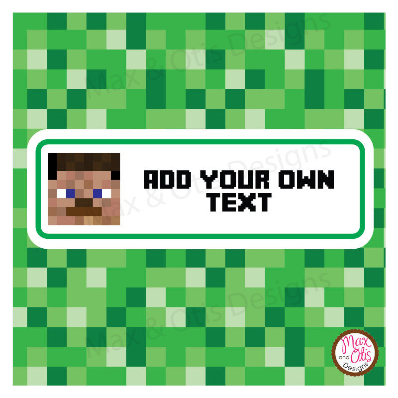 picture regarding Minecraft Printable named Printable Sweet Bar Wrappers - Minecraft Steve