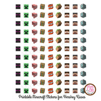 Printable Hershey Kiss Stickers - Minecraft