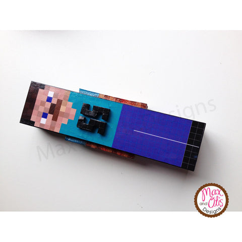 Minecraft Pinewood Derby Printable Car Skin - Max & Otis Designs