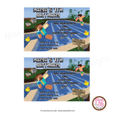 Minecraft Pool Party - Custom Invitation printable - Max & Otis Designs