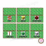 Minecraft - Party Food Table Tents - Max & Otis Designs