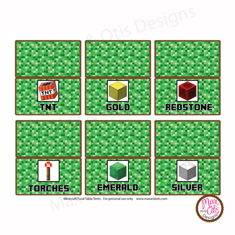 Minecraft Printables Max Amp Otis Designs