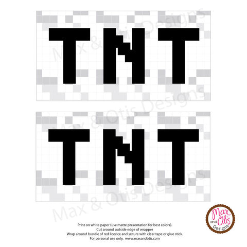 Minecraft TNT Licorice Wrappers