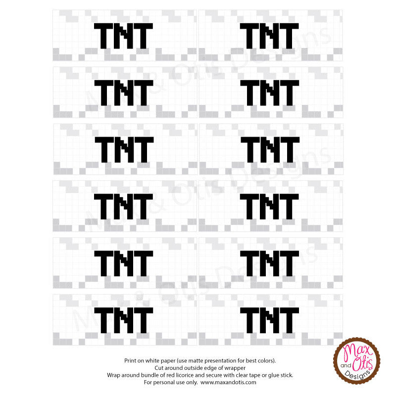 It's just a photo of Insane Minecraft Tnt Printable