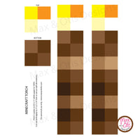 photo relating to Printable Minecraft Images named Minecraft Torch Printable