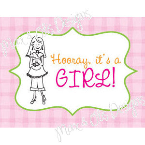 Printable Hershey Nuggets Stickers - It's a Girl!