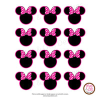 Printable Tags & Labels - Minnie Mouse (Editable PDF) - Max & Otis Designs