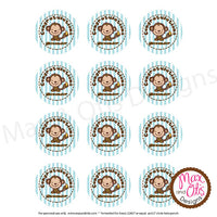 "Printable 2"" Tags & Labels - Congratulations Monkey (Editable PDF) - Max & Otis Designs"