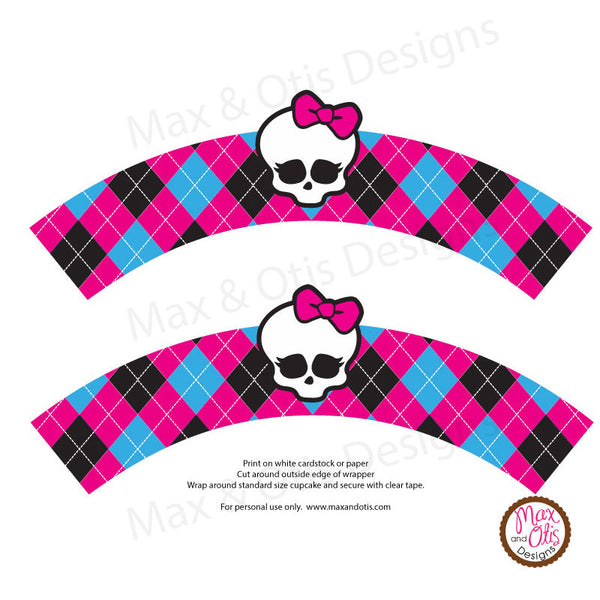 Printable Cupcake Wrappers - Monster High
