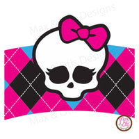 Printable Cupcake Wrappers - Monster High - Max & Otis Designs