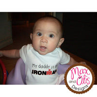 Printable Iron-On Transfer - My daddy is an IRONMAN - Max & Otis Designs