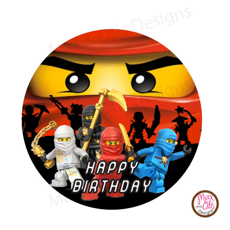 "Printable 2"" Tags & Labels - Ninjago Tag"