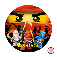 "Printable 2"" Tags & Labels - Ninjago Tag - Max & Otis Designs"